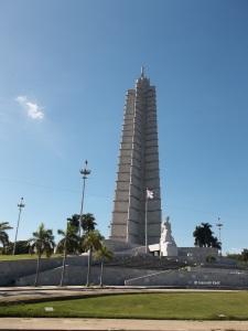 José Martí monument, as seen on the bus tour