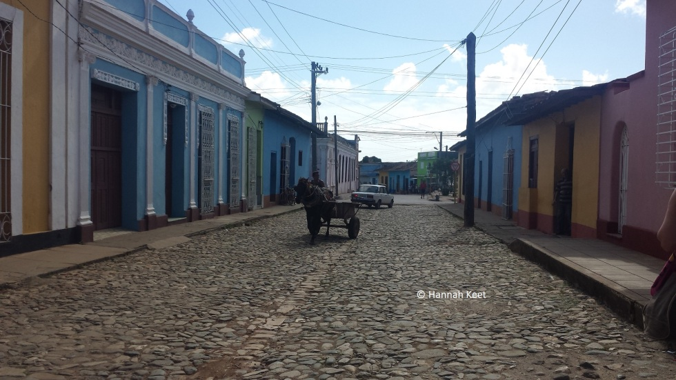 Trinidad, cobbled streets, horse and cart
