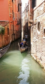 One of the many gondolas to be spotted in Venice